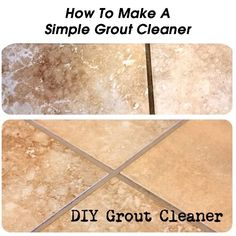 How To Make A Simple Grout Cleaner - http://www.hometipsworld.com/how-to-make-a-simple-grout-cleaner.html