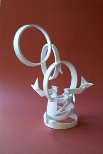 styrofoam cup sculpture -- do this one class, then use as drawing subject for still life next two classes... shading/tone lesson