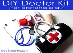 How to make a DIY doctor kit with medical items that are safe for kids and really work! Same price as a pretend doctor kit from the store.