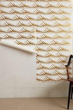 Glimmering Giraffes Wallpaper