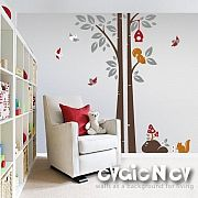 Tree with Birds Wall Decal – evgie