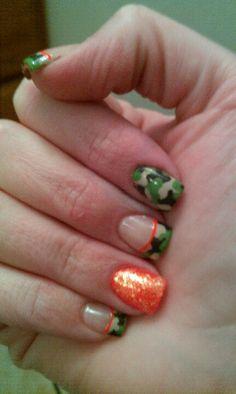 Camo nail art by Alicia @ Nails Ink  Sedalia, Mo