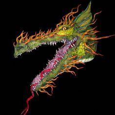 """""""Dragon Trophy"""" - Paper Mache Dragon"""