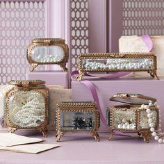 { Beveled Glass & Brass Box }