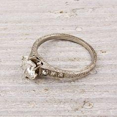 antique engagement ring.