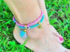 SALEGYPSY  ANKLETS  bohemian anklets  tassel anklets by Nezihe1, $19.00