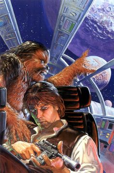 Han and Chewie #chewbacca #han solo #star #wars