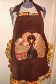 Picture of Thanksgiving Apron From Old Pants and Scraps