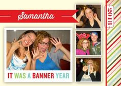 Banner Memories - New Year Greeting Card in Yogurt   Magnolia Press