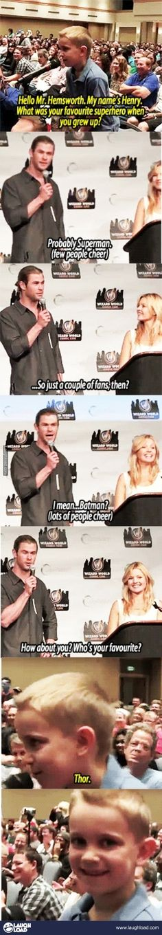 Well played, kid, well played. #Thor