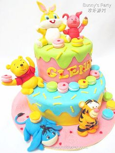 Rabbit's party, Baby Winnie the Pooh & Friends, #Disney #cake