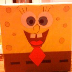 Sponge bob valentine box.