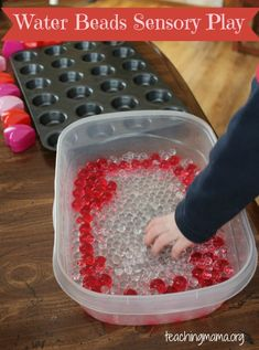 Water Beads Sensory Play and Valentine's Activity