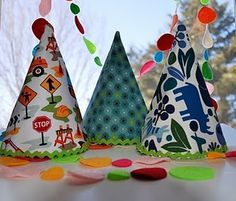 fabric party hat