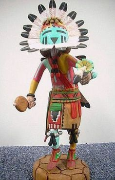 Hopi Indian Thomas Takala Handcarved Sunface Kachina | eBay