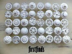 40 Misfit Knob Shabby Chic White Kitchen Reno by Firstfinds, $240.00