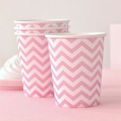 Petite Bebe - Chevron Pink Party Cup Pack of 12 Illume Design, $6.50 (http://www.petitebebe.com.au/chevron-pink-party-cup-pack-of-12-illume-design/)