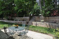 Private small terraced backyard