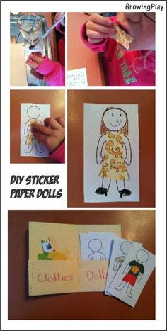 Sticker Paper Dolls to Make with free printable.  Great to bring along on a trip, to a waiting room or just play with at home.