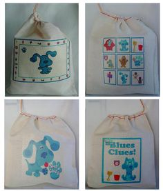 12 BLUES CLUES Birthday Party Favor Candy Loot by mimaskreations, $14.50