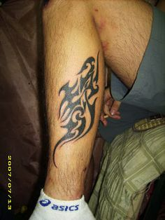 """distortion of a Chinese character, which means """"quiet"""" #totem #tattoo"""