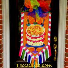 Happy birthday door banner