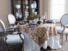 This dining room features contemporary elements for an updated country look.    Find out what type of home decor personality you have by taking our Stylescope quiz. Click here!