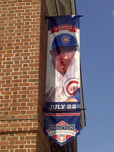 Ron Santo's banner at the Baseball Hall of Fame in Cooperstown, NY