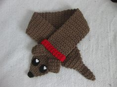 ☺♥♥♥♥♥☺This is so cute! weiner puppy neck warmer :D [NOW WITH PATTERN] :) - CROCHET - I showed it to a member of my west end knitting group. she suggested it would look awesome in a faux fur...I agree ☺♥♥♥♥♥☺