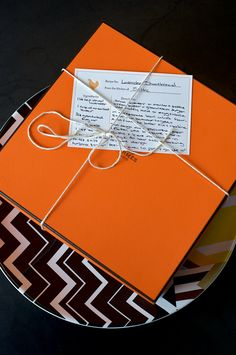 Lavender shortbread delivered in an Hermes box, yes please! Photo by Carol Dronsfield for Matchbook's December issue