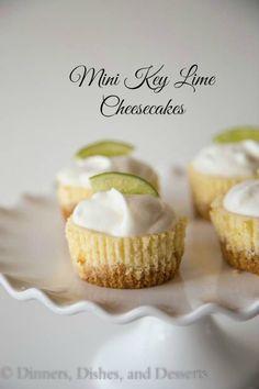 Mini Keylime Cheesecakes