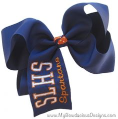 $11.95 XL Create Your Own School Monogrammed Hair Bow!  Great for Spirit Wear, Dance or Cheer Teams!
