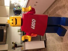 Lego man Halloween costume.  @aimee whorms for mother of the year!