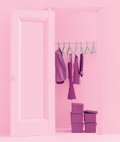 Clothing closet made of paper by Matthew Sporzynski for Real Simple