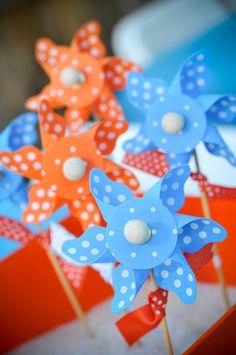 Love the idea of pinwheels as favors