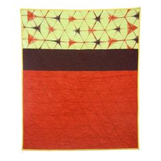 In love with this Shibori Quilt with Hexagons, hand-dyed and hand-made by Kim Eichler-Messmer