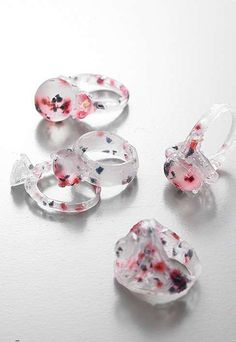 The Fragrant Rings are designed by Kyeok Kim and work just like any other ring but offer a transforming soap quality.Lovely Lathering Jewelry