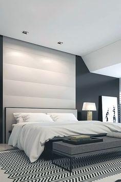 black white gray room