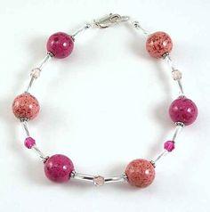 Memorial Bead Bracelet, Marla Style, Sterling Silver