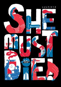 Silver Screen Society. Suspiria movie poster. by Jose Miguel Méndez, via Behance