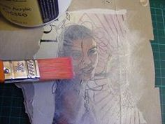 using Gesso and magazine images