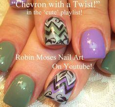 Chevron Nail Art with Filigree By Robin Moses