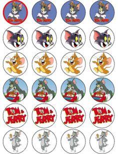 TOM & JERRY tom jerri, clip art, bottlecap imag, free imag, bottl cap