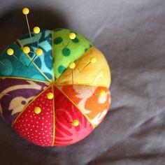A rainbow pincushion...