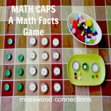 """Math Caps – A Fun Math Facts Game  I was collecting bottle caps for some yet to be determined use, when I started to think about going """"ba..."""