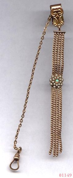 CAM and Co Pearl & Opal Watch Fob  Gold Filled   ITEM by Cleoras, $75.00