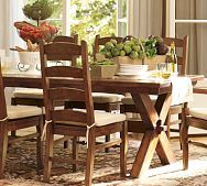 the rustic table and chairs are right up my alley