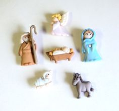 Magnets Christmas Nativity Set Small Holiday by TAKUniqueDesigns, $5.00