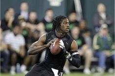 Quarterback Robert Griffin III runs a drill during Baylor University's pro day on March 21, 2012 in Waco, TX. (Baylor University)