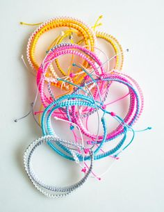 Molly's Sketchbook: Breezy Friendship Bracelets - The Purl Bee - Knitting Crochet Sewing Embroidery Crafts Patterns and Ideas!